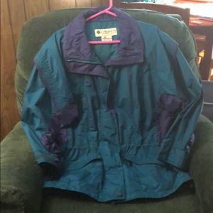 Vintage women's Columbia jacket aqua berry 80s